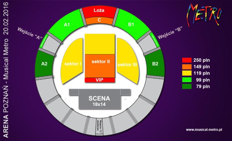 Musical Metro arena Poznań bilety